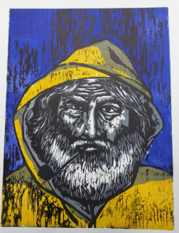 Merikarhu, woodcut 38cm x 29cm
