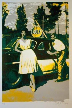 GULF, silkscreen 27cm x 41cm