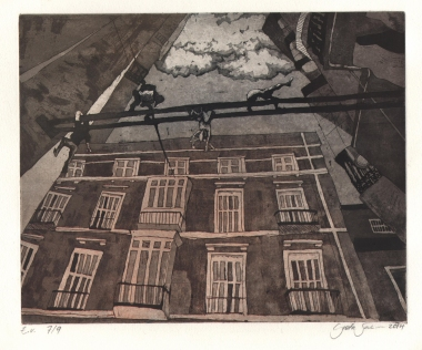 Malaga, etching and aquatint, SOLD