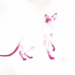 """""""Kissa"""" akvarelli"""