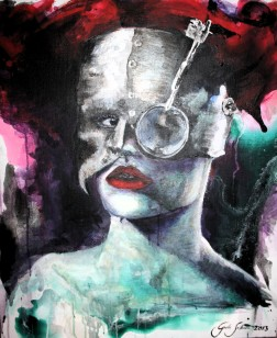 Acrylic on canvas, 78cm x 66cm SOLD