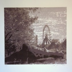 Spree Park, silkscreen 27,5cm x 30,5cm