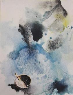 Seed Head, acrylic on canvas 36cm x 46cm, SOLD
