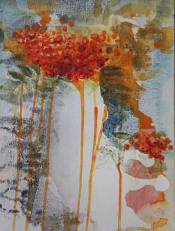 Pihlaja, acrylic on canvas 36cm x 46cm