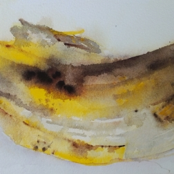 Banana, aquarelle
