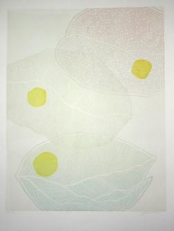 Kevät, woodcut 100cm x 70 cm