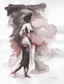 Woman, aquarelle