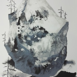 Siirtolohkare, lithography 52cm x 67cm