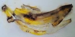 Banana, watercolor 2017