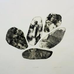 Kokoelma, intaglio 38,5cm x 39cm, 2018