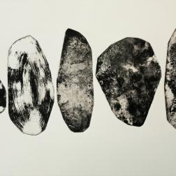 Kokoelma, intaglio 27cm x 45cm, 2018