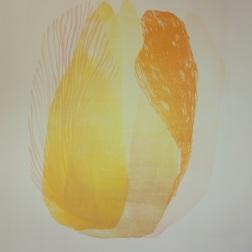 Tulppaani, woodcut 100cm x 70cm