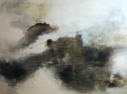 Usva / Mist Acrylic on Wood, 45cm x 54,5cm